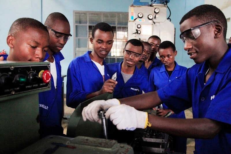 TVET students on a workshop