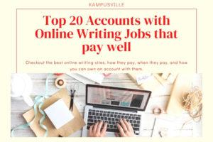 Online writing accounts