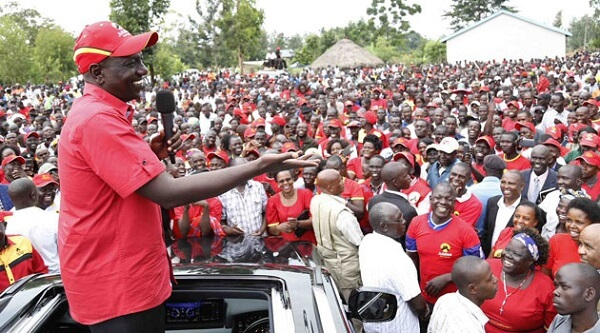 VP Ruto with his multitude of die hard fans