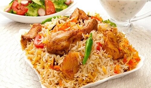 Biryani dish by the Swahili