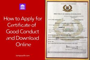 Kenya certificate of good conduct download online