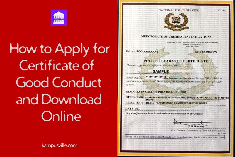 Kenya certificate of good conduct download online