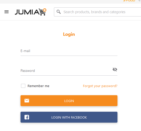 Step 1: log into your Jumia Account