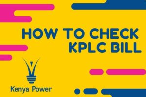 how to check kplc bill
