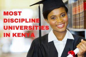 Most discipline universities in Kenya